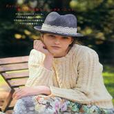 女士淡鹅黄色麻花休闲圆领套衫