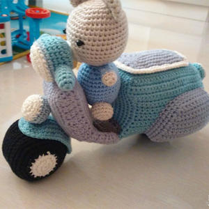 玩偶们的坐骑 钩针踏板摩托车图解教程