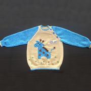从领口往下织宝宝棒针插肩侧开扣套头毛衣