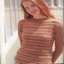 少女款杏色橙色系提花长袖套衫