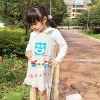 织法超简单的可爱儿童棒针背心裙