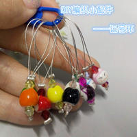 DIY编织小工具:漂亮珠饰记号环