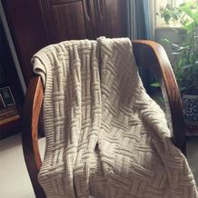 温暖居家编织棒针羊驼羊毛毯