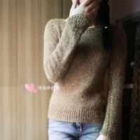 超显瘦的从上往下织女士棒针毛衣