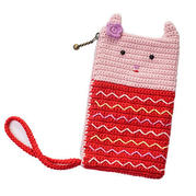 零基础编织视频教程教你钩粉色小兔手机袋