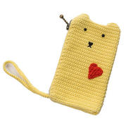 零基础编织视频教程教你钩爱心猫手机袋