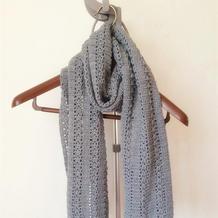 新手也可轻松完成的温暖舒适钩针男士围巾
