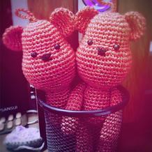 钩针暴力熊玩偶文字图解
