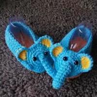 可爱钩针大象婴儿鞋编织视频教程(3-3)大象的钩法