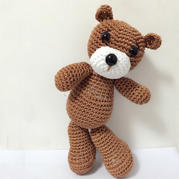 钩针棕色乖乖熊玩偶图解