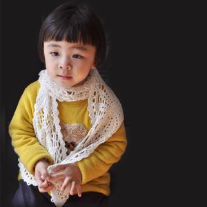 儿童钩针圆形拼花围巾