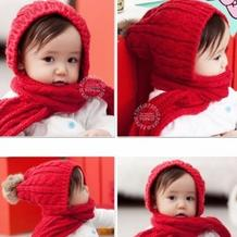 仿淘宝的连帽围巾,有自制图解哦,新手可织