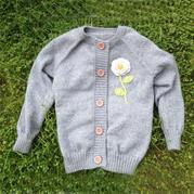 从上往下织女士开衫毛衣编织视频教程(2-2)毛衣钩花