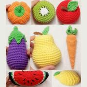 钩针猕猴桃(8-8)钩针果蔬系列编织零基础视频教程