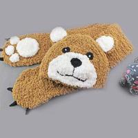 棒针绒绒线萌小熊帽子围巾套装编织视频教程(2-1)帽子的编织方法