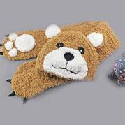 棒针绒绒线萌小熊帽子围巾套装编织视频教程(2-2)围巾的编织方法