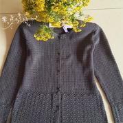 鉤針編織中老年開衫