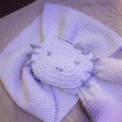 超简单的云绒棒针儿童围脖围巾织法
