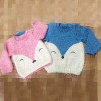 棒针小狐狸图案1-3岁宝宝毛衣