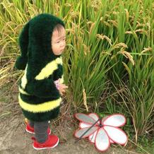 森林小精灵绒绒线宝宝棒针连帽外套开衫