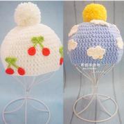 云朵樱桃钩针宝宝帽编织视频(2-1)长针帽身的钩法