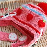 儿童钩针韩版兔子护耳帽