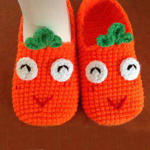 详细钩针胡萝卜宝宝鞋编织图文教程