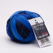 德国黑猫魔球1208-LACE BALL 蕾丝长段染毛线羊毛绒线球800米100克