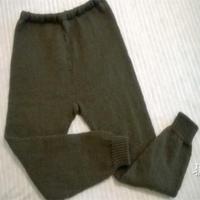为老人织的冬季棒针厚毛裤