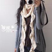 知性美女士不规则钩针围巾