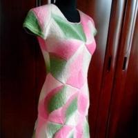 长段染女士棒针修身连衣裙