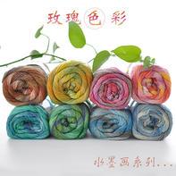Rosecolor水墨画系列 马海毛长段染线/毛蕾丝/披肩线100g