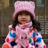 送宝宝的暖暖爱 儿童棒针猫头鹰围巾与帽子