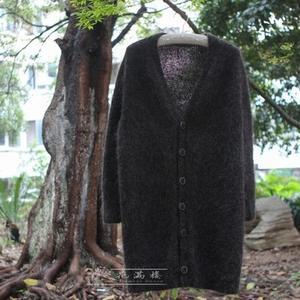 嘉宝娜女士棒针V领开衫毛衣外套
