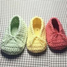 糖果色钩针宝宝芭蕾鞋船口鞋
