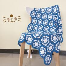 圣托里尼风格钩针拼花毯