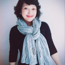 冬季必备的时尚女士棒针围巾披肩