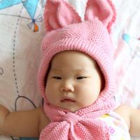 经典实用棒针宝宝兔子帽子编织视频教程(2-2)