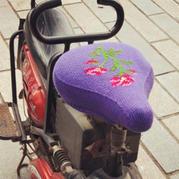 毛线自行车电动车坐套编织教程