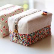 简易拉链收纳袋笔袋制作教程 手编包包也可以参考
