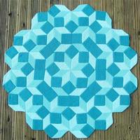 美丽几何图案编织毯 消耗囤线方式之一