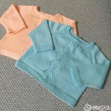 婴幼儿棒针插肩套头毛衣详细编织教程