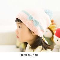 儿童棒针蝴蝶结帽子编织视频教程
