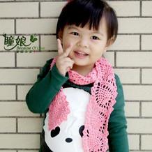 糖果色儿童钩针菠萝围巾