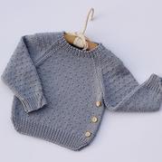 儿童棒针插肩袖中性毛衣(2-1)婴儿毛衣编织视频教程