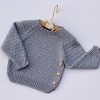 儿童棒针插肩袖中性毛衣(2-2)婴儿毛衣编织视频教程