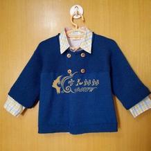 婴幼儿棒针双排扣外套开衫