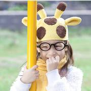 儿童钩针长颈鹿帽子编织教程视频