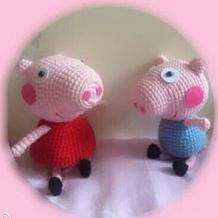 钩针编织粉红小猪佩琪与乔治图解