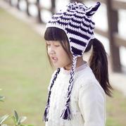宝宝斑马帽子(2-2)儿童钩针护耳帽编织视频教程